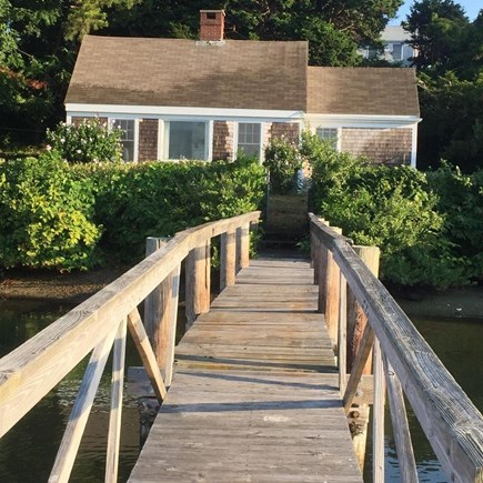 Hyannis Cape Cod vacation rental - View of large cottage from dock, sleeps 3
