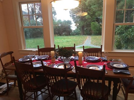 Hyannis Cape Cod vacation rental - Dining area with water view