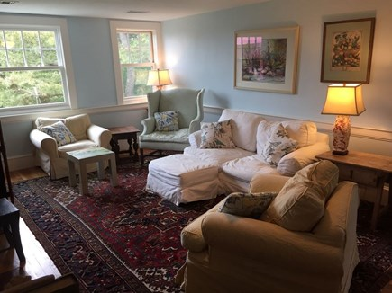 Hyannis Cape Cod vacation rental - Second floor family room w/ water views