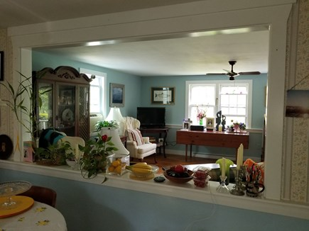 CHATHAM Cape Cod vacation rental - View of living room from kitchen