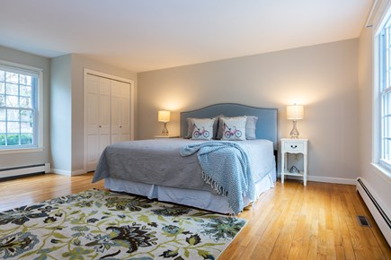 Chatham Cape Cod vacation rental - Main level master bedroom with king bed and en suite full bath