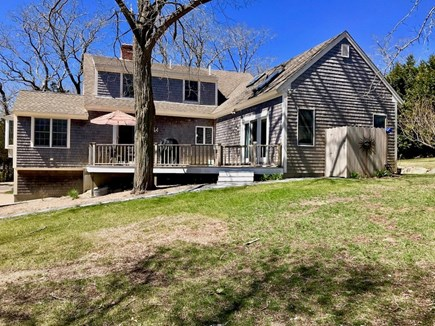 Eastham Cape Cod vacation rental - Back yard, deck & outdoor shower