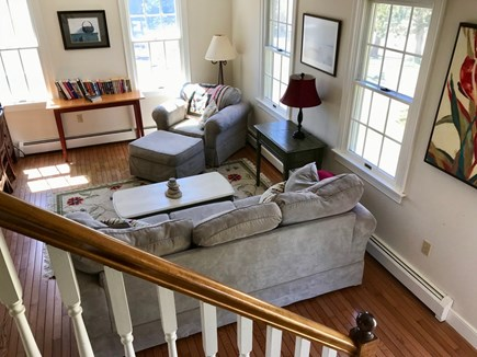 Eastham Cape Cod vacation rental - Living room from stairs
