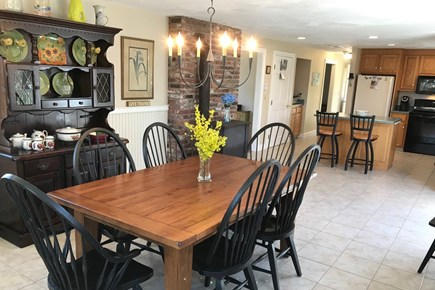 Eastham Cape Cod vacation rental - Open dining room & kitchen