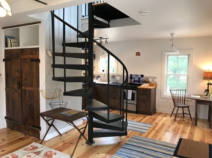 Orleans Cape Cod vacation rental - Main level & spiral stairs