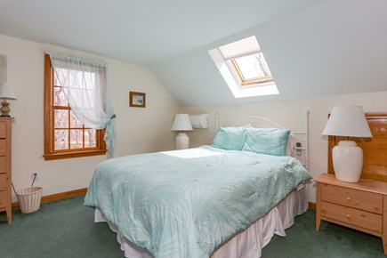 Eastham Cape Cod vacation rental - Upstairs bedroom with skylight and television.
