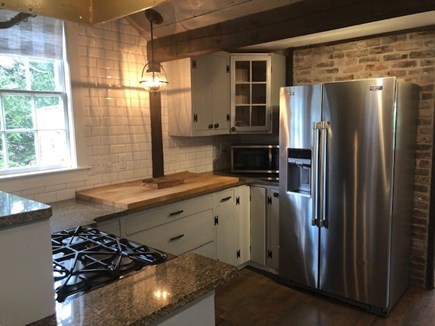 South Yarmouth Cape Cod vacation rental - Kitchen Stove and Refrigerator view