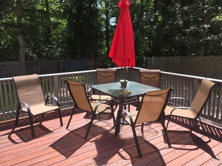 Hyannis Cape Cod vacation rental - Spacious deck with furniture.