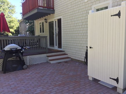 Hyannis Cape Cod vacation rental - Beautiful patio with a grill and brand new outdoor shower.