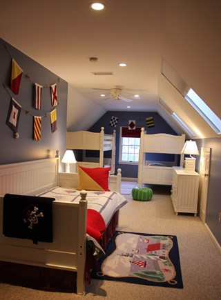 South Yarmouth Cape Cod vacation rental - Second floor bunkroom - 6 twins and rooms to play!