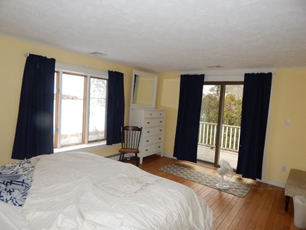 FALMOUTH Cape Cod vacation rental - Master bedroom with king bed access to the upper deck