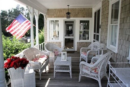West Falmouth Cape Cod vacation rental - Cozy Front Porch on Which to Relax