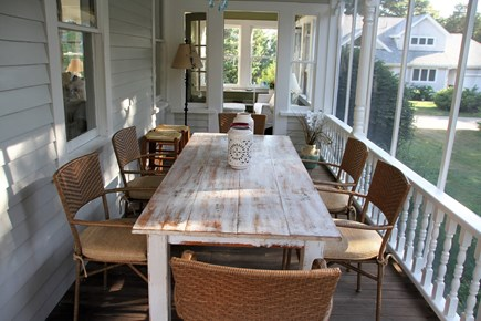 West Falmouth Cape Cod vacation rental - Screened Porch for Outdoor Dining