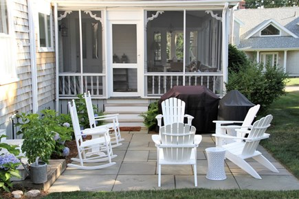 West Falmouth Cape Cod vacation rental - Private Backyard Patio to Gather & Enjoy the Late Afternoon