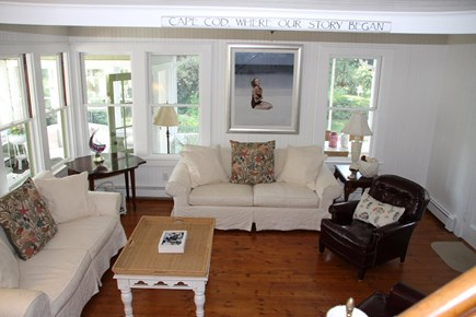 West Falmouth Cape Cod vacation rental - Large, Comfortable Living Room with TV