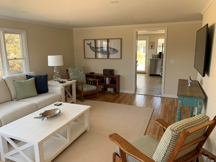 Barnstable Cape Cod vacation rental - TV with plenty of room for games/reading.