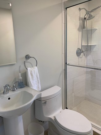 Barnstable Cape Cod vacation rental - First floor bathroom with walk-in shower.