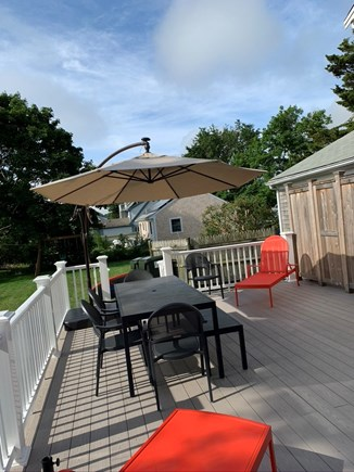 Barnstable Cape Cod vacation rental - New deck, gas grill and outdoor shower.  Swing set too, for kids.