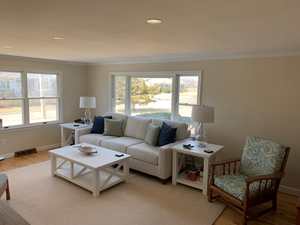 Barnstable Cape Cod vacation rental - Freshly painted living room with new decor.