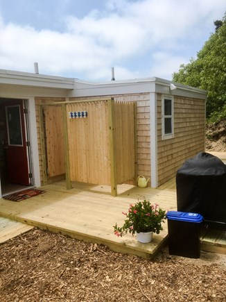 Wellfleet Cape Cod vacation rental - Brand new outside shower, decks and grill.