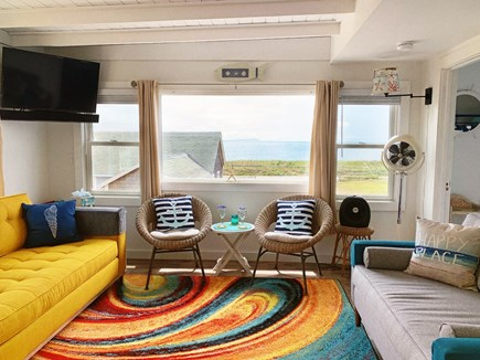 Wellfleet Cape Cod vacation rental - Comfy seating for watching boats, oystering and TV