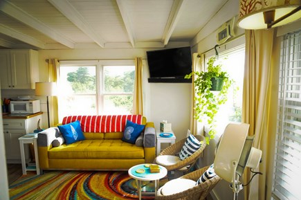 Wellfleet Cape Cod vacation rental - Your bright & sunny living room with stunning water views.