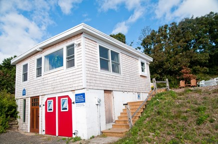 Wellfleet Cape Cod vacation rental - View of cottage.  Two car parking Large deck on opposite side.