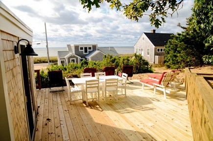 Wellfleet Cape Cod vacation rental - Large deck with view of the bay.