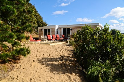 Wellfleet Cape Cod vacation rental - Private path to the large private deck & lounging area