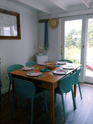 Wellfleet Cape Cod vacation rental - Comfortable dining area with access to large, private deck