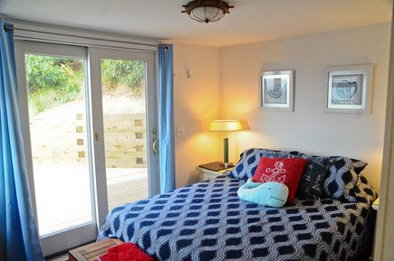 Wellfleet Cape Cod vacation rental - Air-conditioned master with queen & views of dune & water.