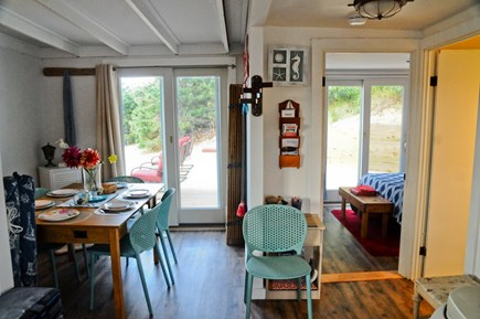 Wellfleet Cape Cod vacation rental - Open design with dune views while you dine
