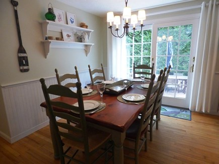 Chatham Cape Cod vacation rental - Dining area opens to back patio