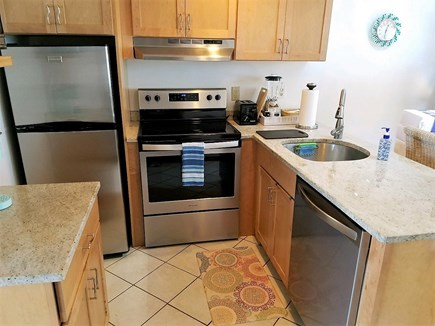 Chatham Cape Cod vacation rental - View of kitchen w/granite and brand new stainless steel appliance