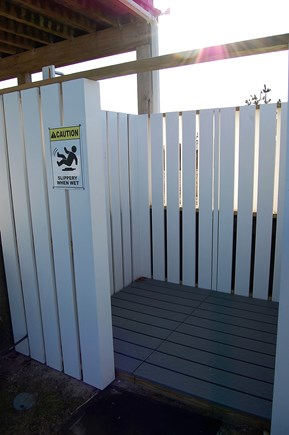 Chatham Cape Cod vacation rental - Outdoor shower w/foot wash in common area