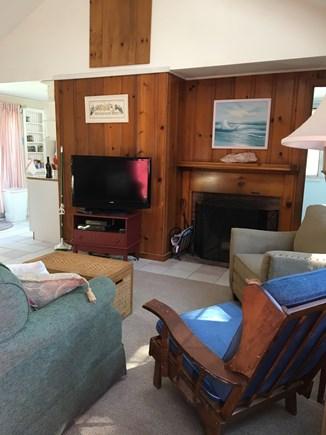 Dennisport Cape Cod vacation rental - Living room from the front door