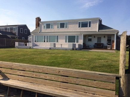 West Dennis Cape Cod vacation rental - View of the home & yard from the water