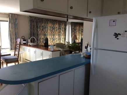 West Dennis Cape Cod vacation rental - Kitchen with island betw cooking & dining area