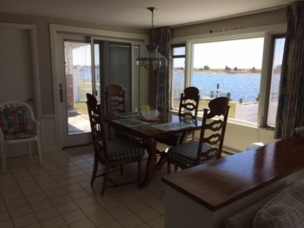 West Dennis Cape Cod vacation rental - Dining area, dining table has 2 leaves for seating up to 8