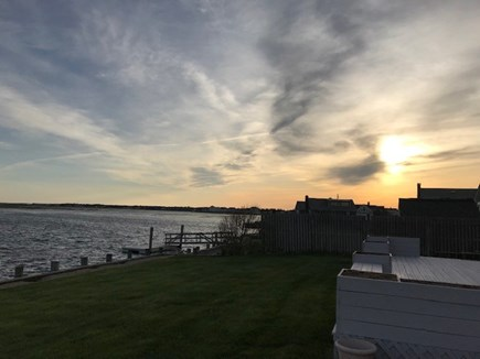 West Dennis Cape Cod vacation rental - Start of sunset - could be yours! Enjoy boats, swimming & sunrise