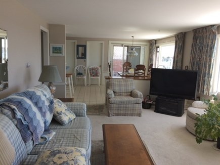 West Dennis Cape Cod vacation rental - Comfy living room for TV viewing, viewing outdoors and ocean