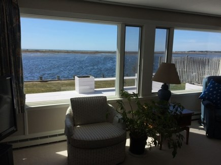 West Dennis Cape Cod vacation rental - Your view of water & boats, when sitting on couch