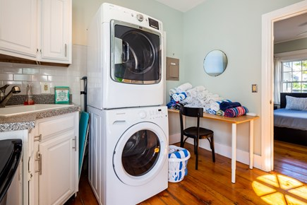 Provincetown Cape Cod vacation rental - Main level laundry