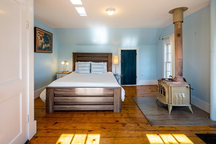 Provincetown Cape Cod vacation rental - Queen bedroom 1 has views of Commercial St and Cape Cod Bay