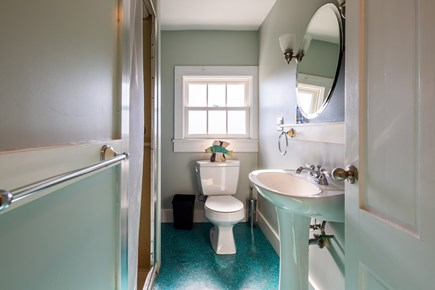 Provincetown Cape Cod vacation rental - Upper level full bath with walk-in shower