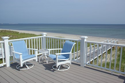 East Sandwich Cape Cod vacation rental - Relax on the deck off the master bedroom