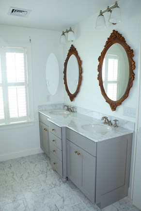 East Sandwich Cape Cod vacation rental - Master bath vanity