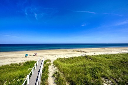 East Sandwich Cape Cod vacation rental - View of beach from deck