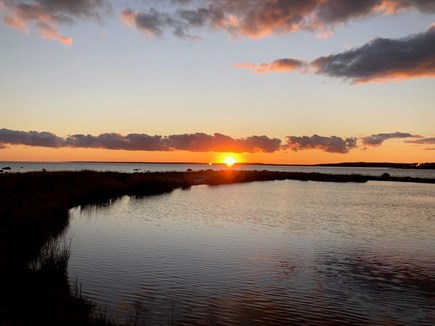 Pocasset, Monument Beach Cape Cod vacation rental - Beautiful sunset from our shoreline.