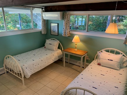 Pocasset, Monument Beach Cape Cod vacation rental - This large bedroom actually has 3 single beds and great views.